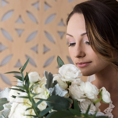 Portrait of bride at Azul Fives Riviera Maya room