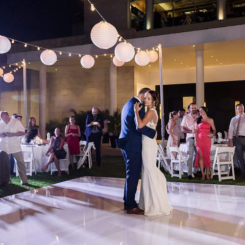Bride and grooms first dance at Azul Fives Riviera Maya