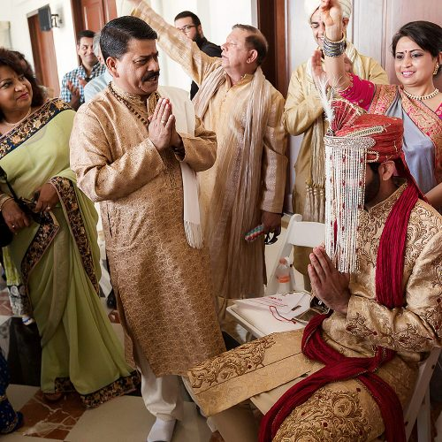 Baraat Indian wedding ceremony for groom
