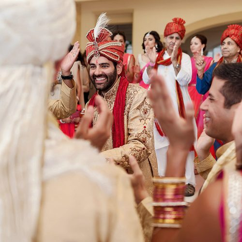 Baraat indian wedding ceremony in Cancun