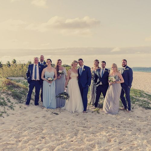 Bridal party on beach at Finest Playa Mujeres