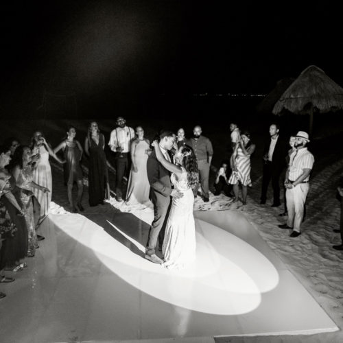 Bride and Grooms first dance at Finest Playa Mujeres