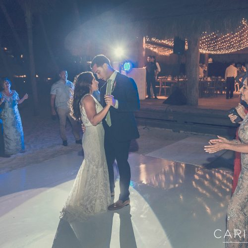Bride and grooms first dance at Finest Playa Mujeres, Cancun Mexico