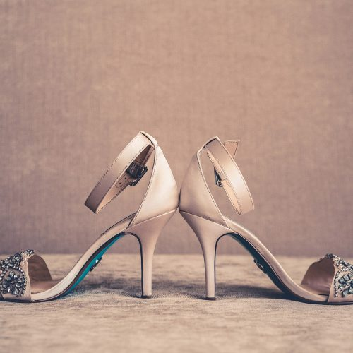Detail of wedding shoes.