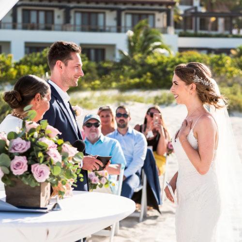 Wedding ceremony at Secrets Playa Mujeres resort