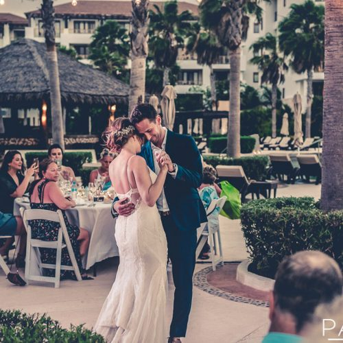 Bride and grooms first dance at Secrets Playa Mujeres in Cancun Mexico