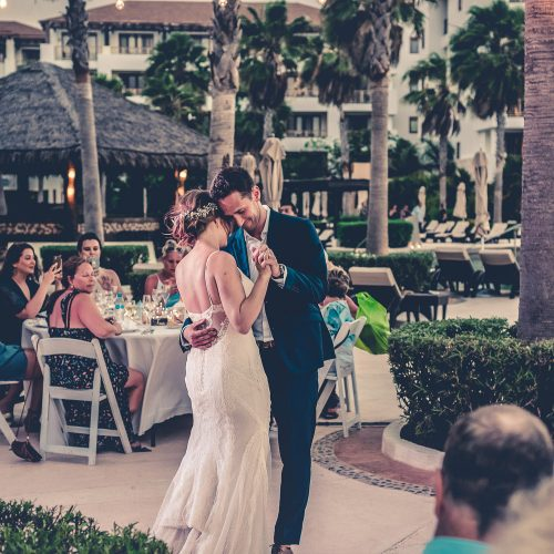 Bride and grooms first dance at Secrets Playa Mujeres, Cancun Mexico