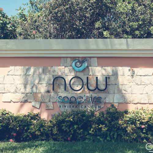Sign of NOW Sapphire Riviera Cancun
