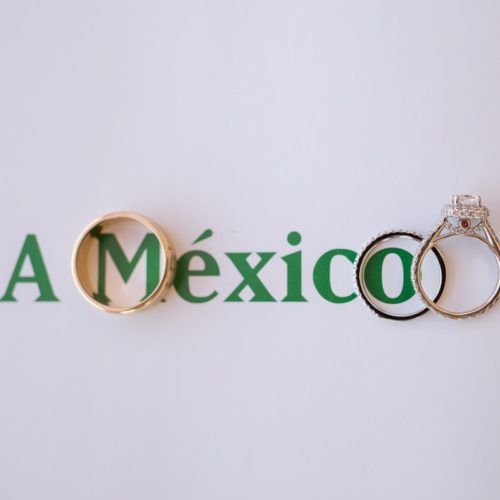 Close up of rings on Mexico
