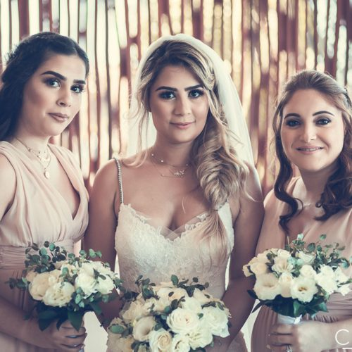 Bride and bridesmaids before wedding at NOW Sapphire Riviera Cancun
