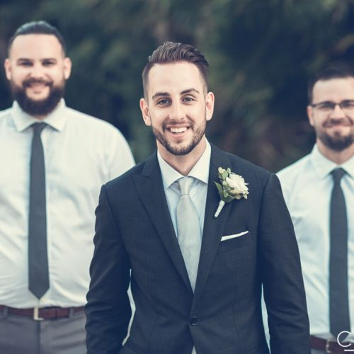 Groom and groomsmen at NOW Sapphire Riviera Cancun resort