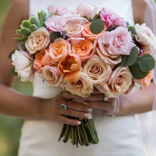 Close up of flowers from wedding at Banyan Tree Mayakoba