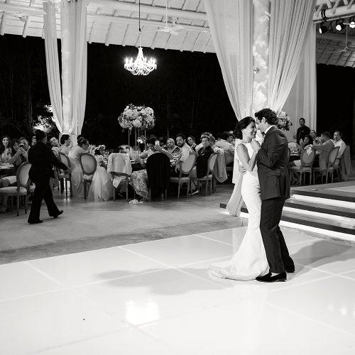 Bride and grooms first dance at Banyan Tree Mayakoba